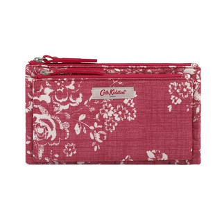 Cath Kidston - Ví cầm tay Embroidered Poly Double Pouch - 891202 - Pale Red thumbnail