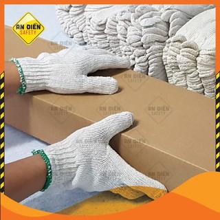 Găng tay len bảo hộ sợi trắng loại DÀY 60G, co giãn tốt, chống trầy xước, chống trơn trượt, bảo vệ đôi tay