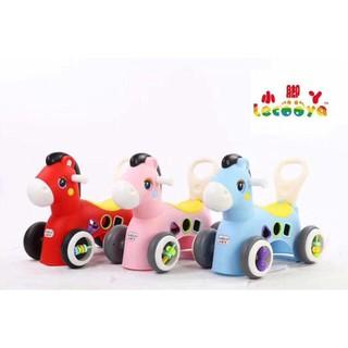 Ngựa chòi chân kèm đồ chơi thả hình khối