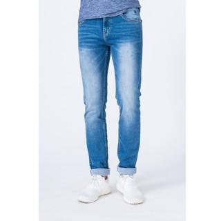 Quần jean (quần bò) nam Biluxury màu xanh mài trắng (3QBDB24008)