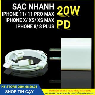 Bộ sạc nhanh 20W Chính hãng dùng cho: Pro Max, iPhone 11, iPhone XS Max, iPhone XS, iPhone X, iPhone 8 Plus, iPhone 8