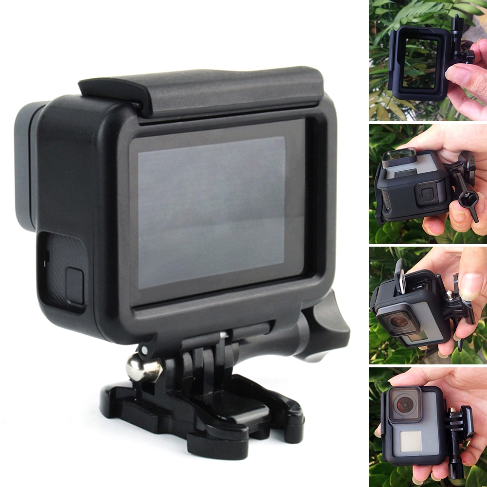 Protective Housing Case Cover Frame Base Mount For Gopro Hero 5/6 Session Camera