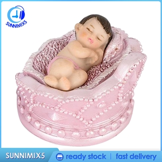 [Trend Technology]Mini Baby Statues Doll Home Decoration Ornaments Collectible Crown Baby Boy