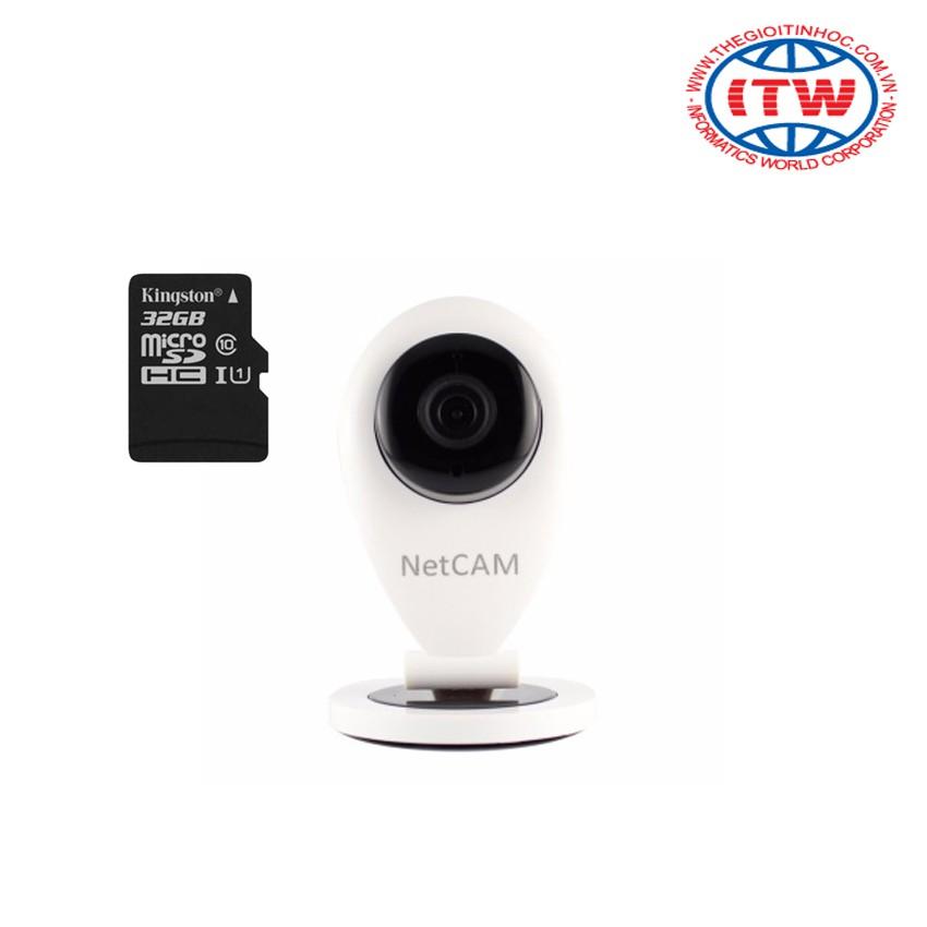 Bộ camera IP giám sát ngày đêm NetCAM M1-IP1.0 (Trắng) + kèm thẻ nhớ 32Gb - 2597415 , 117713883 , 322_117713883 , 579000 , Bo-camera-IP-giam-sat-ngay-dem-NetCAM-M1-IP1.0-Trang-kem-the-nho-32Gb-322_117713883 , shopee.vn , Bộ camera IP giám sát ngày đêm NetCAM M1-IP1.0 (Trắng) + kèm thẻ nhớ 32Gb