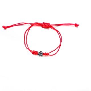 Vòng tay chỉ đỏ charm bạc 925 cỏ 4 lá - KAIA thumbnail