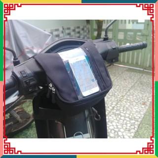 ( HANG HOT ) ( CC2016 ) MỚI - Túi Treo Đầu Ghi Đông Xe Máy Chiều Dọc Xem Google Map, Chứa Đồ, Chạy Grab