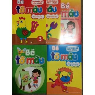 Tô mầu cho bé (10 quyển ) 1 sét 10 chủ đề