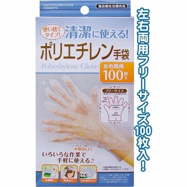 Hộp 100 bao tay nilon hàng nội địa Nhật