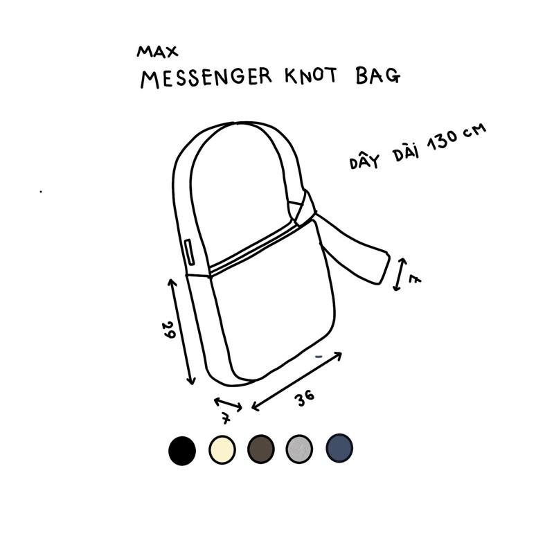 [Mã SKAMCLU7 giảm 10% tối đa 50K đơn 0Đ] Túi knot messenger
