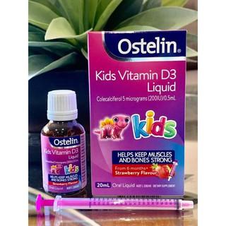 [ Mẫu mới] Vitamin D Ostelin bổ sung Vitamin D3 cho bé