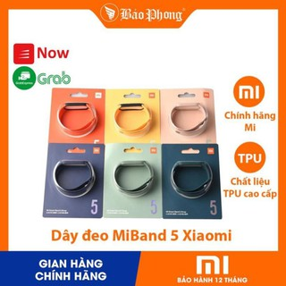 Dây đeo MiBand 5 silicon chính hãng Xiaomi Strap cho Mi Band 5 (shopmh59)