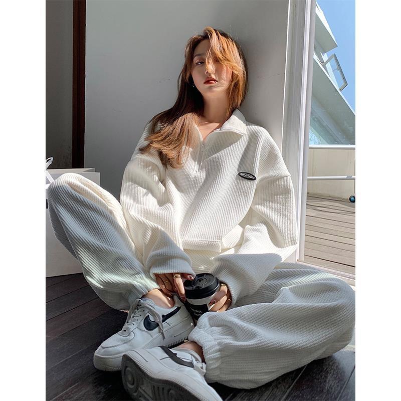 Mặc gì đẹp: Thoải mái với Set đồ thể thao 2 mảnh dáng rộng phong cách Hàn Quốc thời trang năng động cho nữ