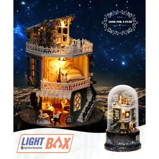 Nhà búp bê – Hộp Âm Nhạc [Mô hình có nội thất + Đèn LED + Âm Nhạc]