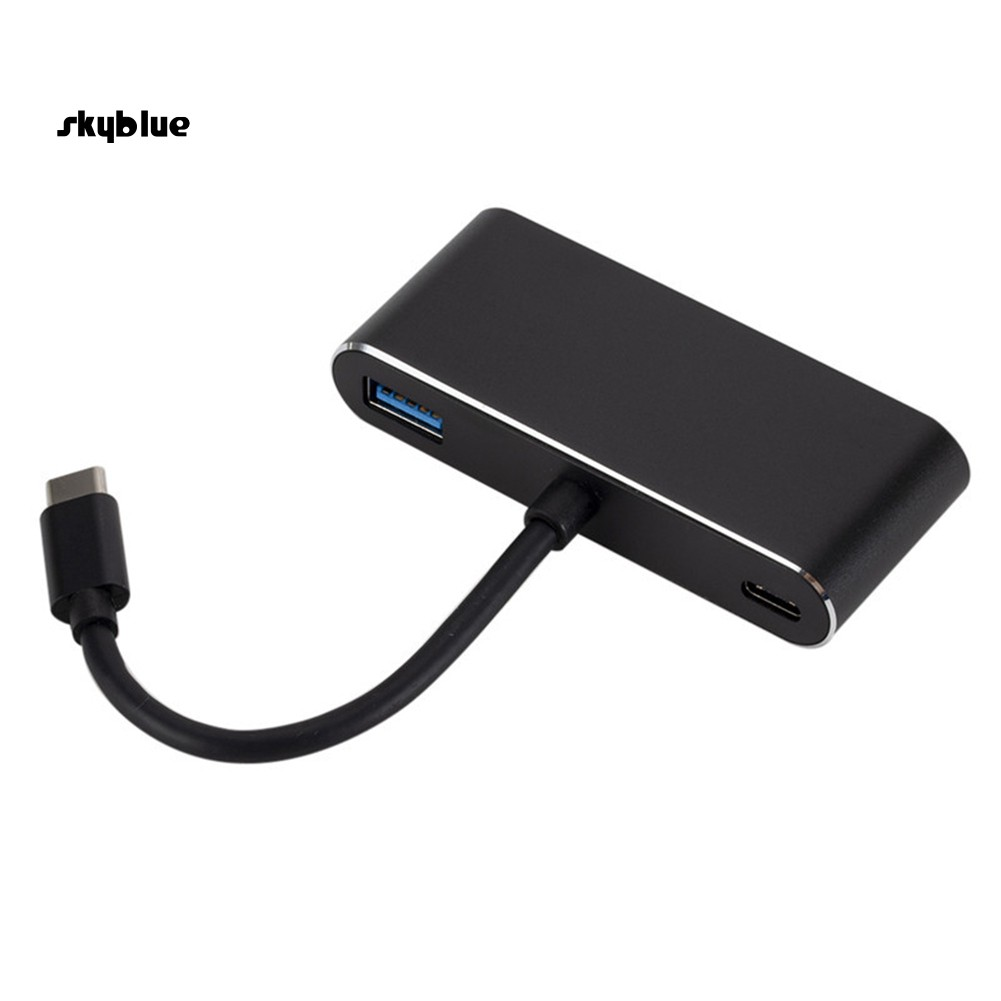 SKBL 5 in 1 USB 3.1 Type-C to 4K HDMI VGA Audio Adapter Cable for PC Laptop Monitor