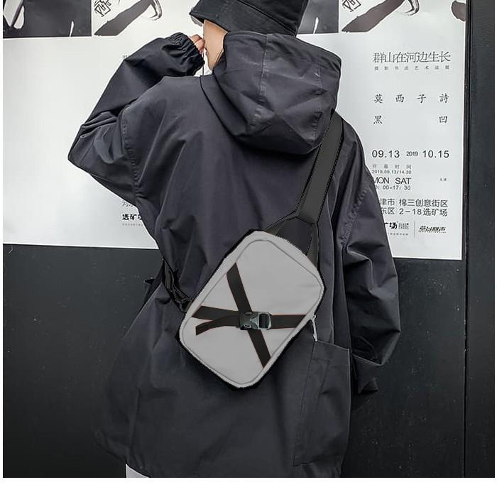 Túi đeo chéo nam nữ unisex túi messenger du lịch thời trang Hàn quốc HOT TREND Bee Gee 089