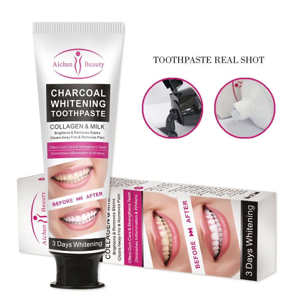 Mint Bamboo Charcoal Toothpaste Fresh Oral Repair Clean Teeth Dental Care No Fluoride Toothpaste