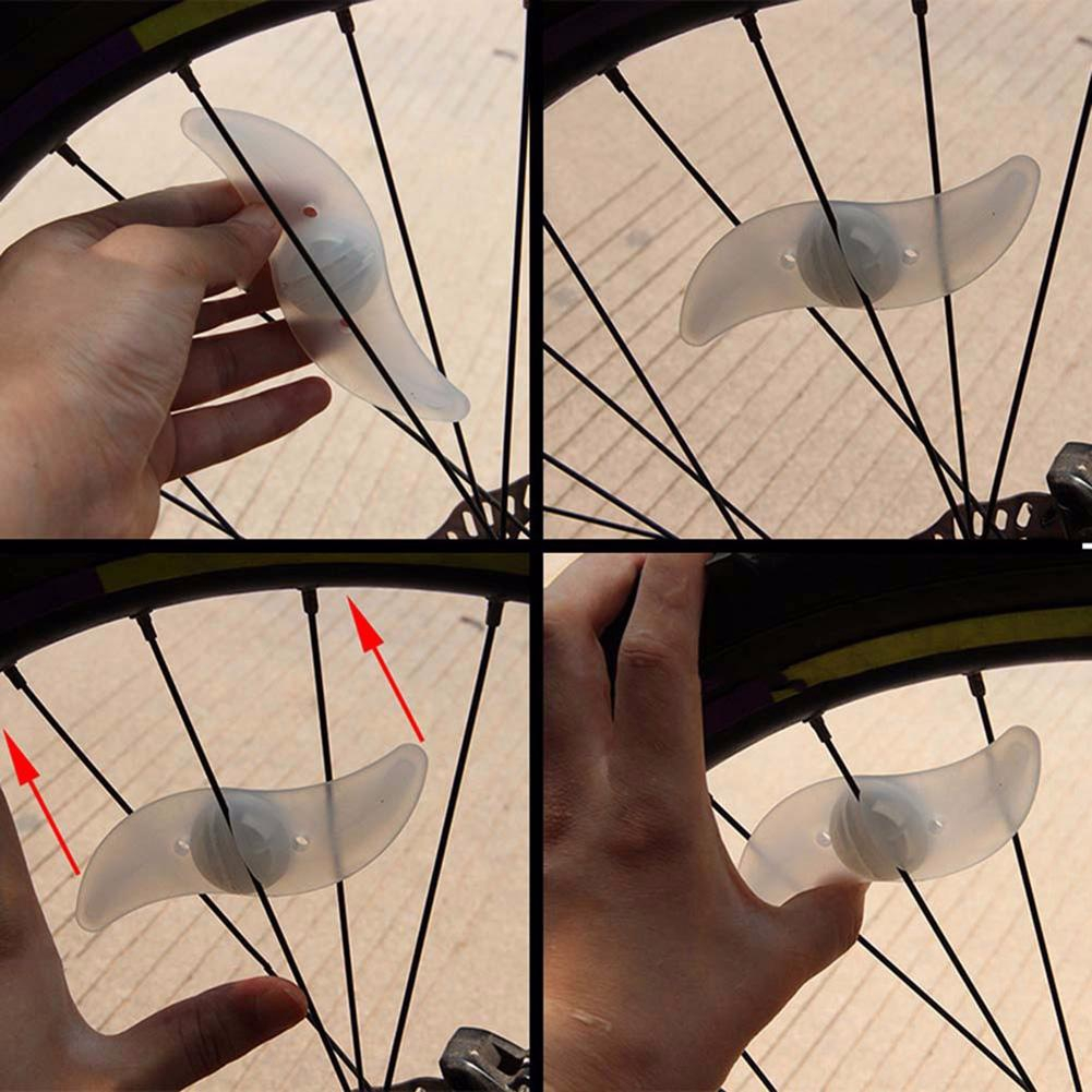 Willow Shape LED Bicycle Wheel Spoke Light Waterproof Bike Cycling Lamp