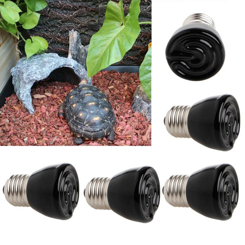 Ceramic Heat Emitter Infrared Reptile Breeding Heater E27 Lamp Bulb 220V