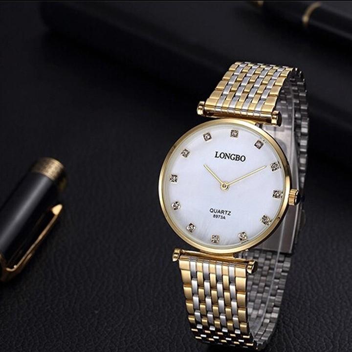Đồng hồ nam Longbo LB94 mặt màu trắng