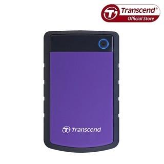 [Mã ELMALL1TR5 giảm 6% đơn 3TR] Ổ Cứng Di Động Transcend Rugged StoreJet 25H3P 4TB USB 3.0 (Màu Tím)
