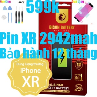 Pin IPhones XR Con Trâu BISON 2942mAh chính hãng thumbnail