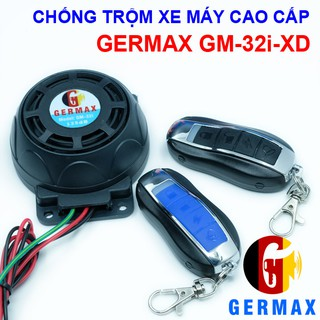 Chống Trộm Xe Máy Cao Cấp Germax GM-32i-XD, Tự Lắp Đặt Dễ Dàng-Chống Trộm Hiệu Quả