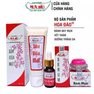 Bộ 3 kem mụn, sữa rửa mặt, serum Hoa Đào công ty TNHH THIN GROUP
