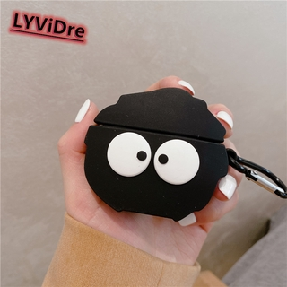 LYViDre 3D Black briquettes Elves Earphone Case For Huawei Freebud 4i Protective Case For Huawei Freebud 4i Bluetooth Headset Decoration Cover Earphone Accessories