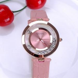 Đồng hồ nữ GUOU màu hồng nữ tính