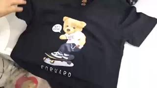 【FREE SHIP】Áo Thun nam nữ,áo tay lỡ Unisex in Gấu Robo, áo phông vải cotton co dãn 4 chiều thấm hút mồ hôi - GW Shop