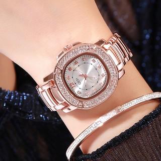 Đồng hồ nữ GEDI GD01 dây hợp kim chống nước viền đính đá nữ tính