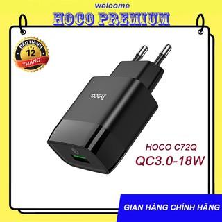 CỦ SẠC NHANH HOCO C72Q DÒNG QC3.0/18W SẠC FULL IPHONE, IPAD, ANDROID – CHÍNH HÃNG