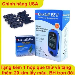 Máy đo đường huyết chính hãng Acon Oncall EZ II dành cho người tiểu đường Made in USA (Halongstar) thumbnail