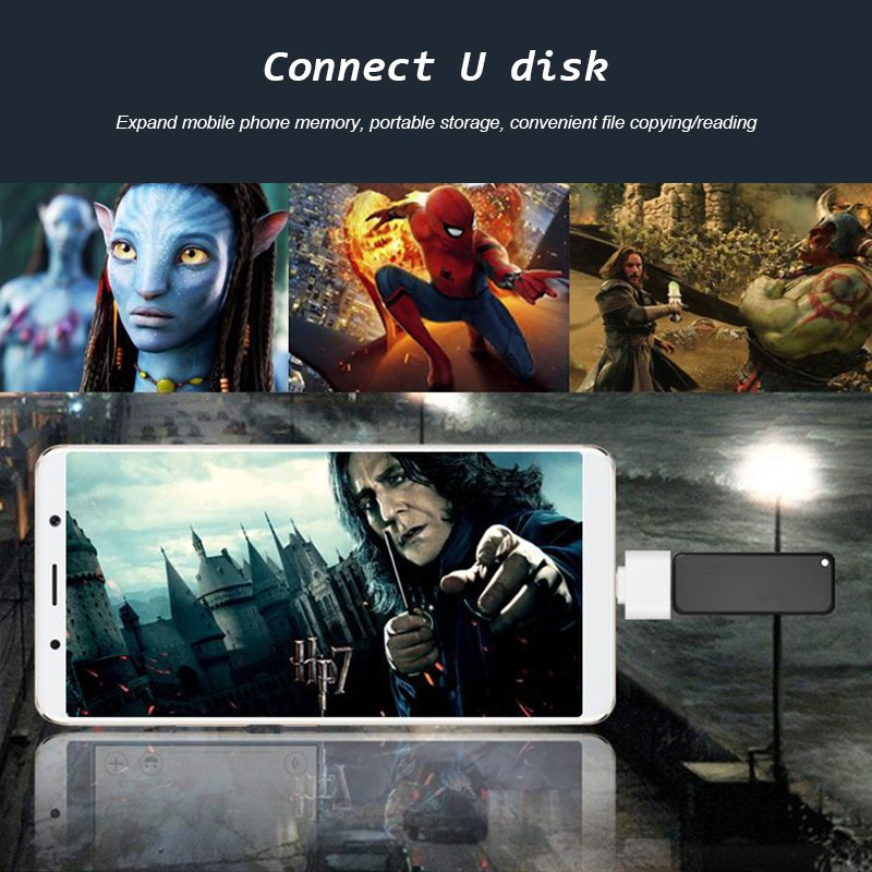 Đầu chuyển đổi OTG điện thoại Android chuyên dụng cho đầu đọc thẻ nhớ/cáp Samsung/đầu đọc ổ đĩa flash