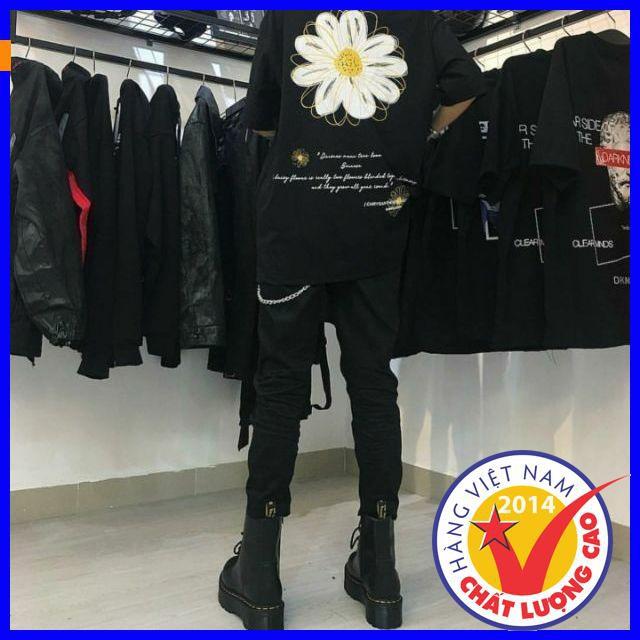 [Giảm mạnh] Áo Thun Tay Lỡ FLOWER TEE Unisex áo thun style hàn quốc,phong cách,chất liệu thoáng mát