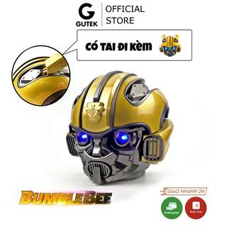 Loa Bluetooth Siêu Bass Gutek Bumblebee Transformer Mắt Có Đèn Led Xanh, Nghe Nhạc Sống Động, Hàng Chính Hãng