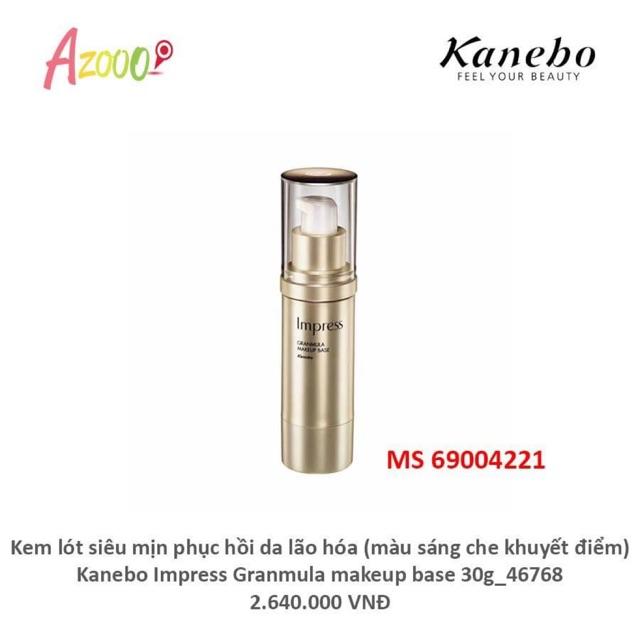 Kem lót siêu mịn phục hồi da lão hóa (màu sáng che khuyết điểm) Kanebo Impress Granmula makeup base 30g