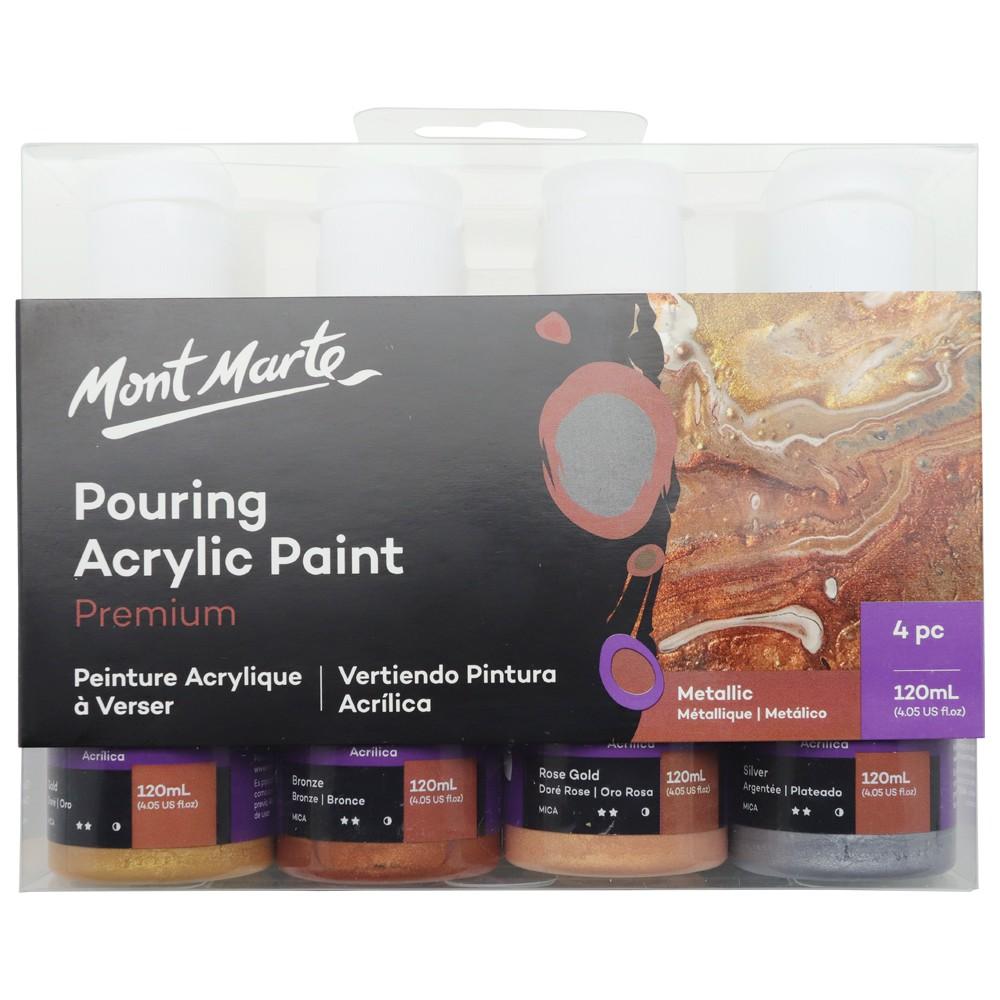 Set 4 màu Premium Acrylic Pouring Paint Mont Marte | Shopee Việt Nam
