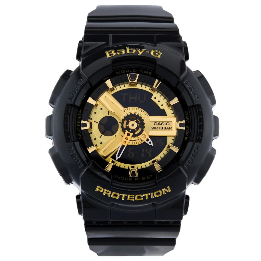 Đồng hồ nữ dây nhựa Casio Baby-G chính hãng Anh Khuê BA-110-1ADR
