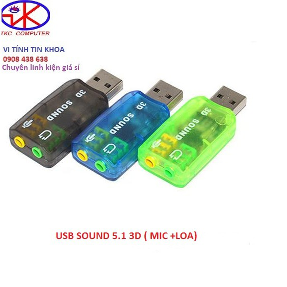 USB Sound 5.1 3D( SOUND+MIC)