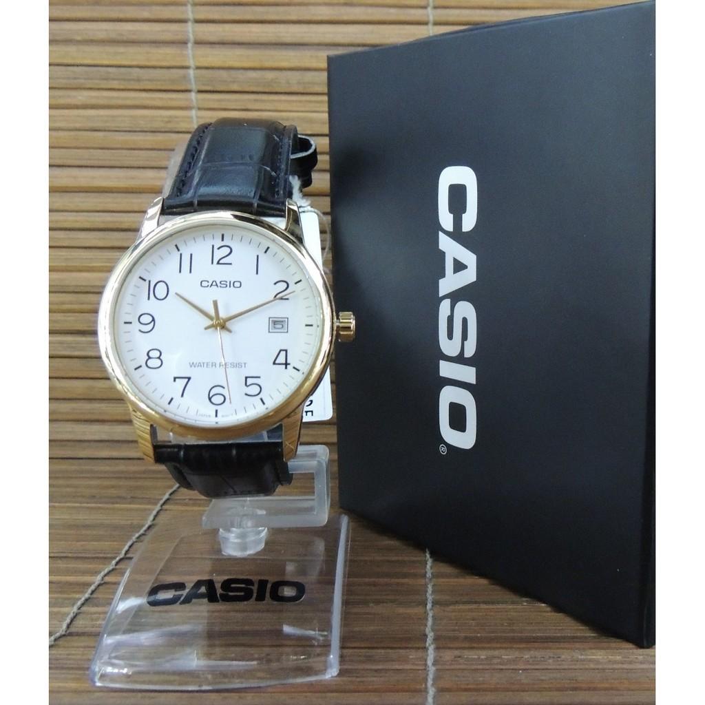 Đồng hồ nam dây da Casio chính hãng Anh Khuê MTP-V002GL-7B2UDF