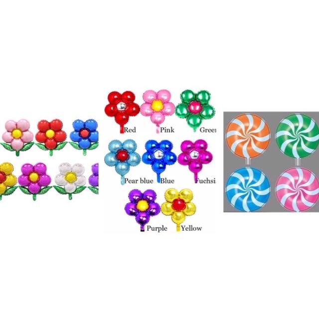 Bóng hình kẹo mút, hoa size trung
