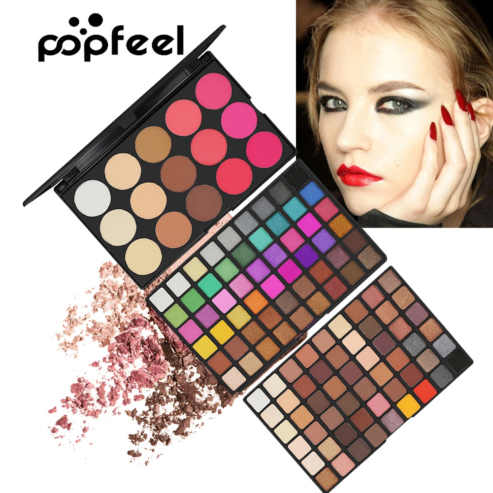 123 Colors Eyeshadow Palette For Show Matte Pressed Powder Pearl Makeup Set Blusher Prom Shimmer Professional