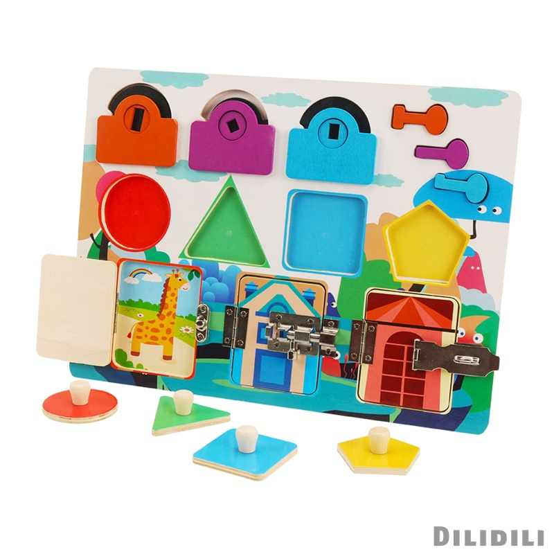 [12] Montessori Busy Board Wood Toys Learning Activities for 3 Years Old