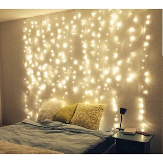 Đèn dạng mành rèm thả rũ trang trí phòng ngủ, trang trí quán cafe cực lung linh và tiện lợi