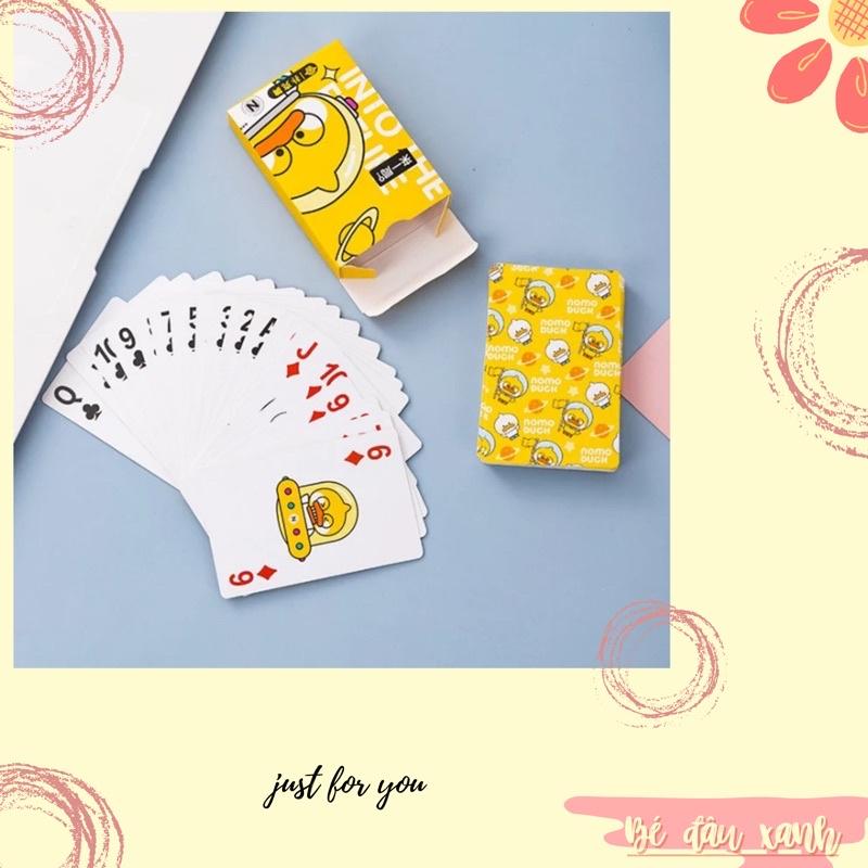 Bộ Bài tây poker hình vịt vàng siêu dễ thương in hình độc đáo chơi xì zách