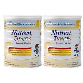 [Mã MKBCS01 hoàn 8% xu đơn 250K] Combo 2 Hộp Sữa Nutren Junior 800g( Nhập khẩu chính hãng, Date t8 2022) thumbnail