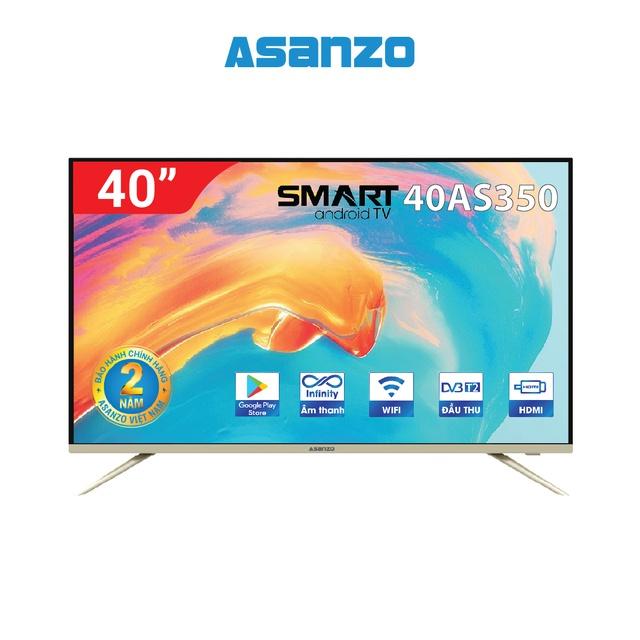 [Mã ELMAL6 giảm 6% đơn 699K] Smart Tivi Asanzo 40inch - 40AS350 (new 2020)