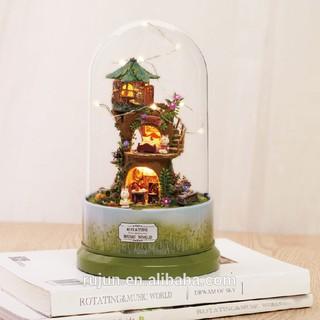 Mô hình nhà gỗ búp bê – Hộp âm nhạc Forest whimsy