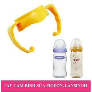 Tay cầm bình sữa cổ rộng Pigeon - phụ kiện cho bình sữa 160ml và 240ml - Lansinoh